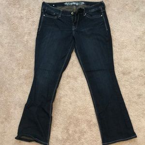 Express Barely Bootcut Low Rise Denim Jeans 10R